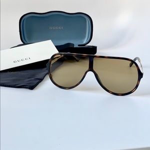 Gucci GG0199S-003 Havana Frame / Brown Lenses